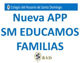 Nueva APP SM EDUCAMOS FAMILIAS